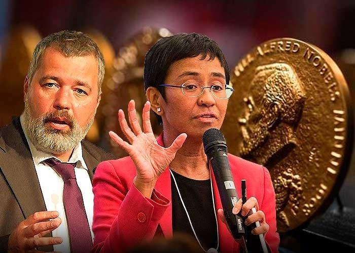 Premio Nobel de la Paz 2021 pertenece a los periodistas María Ressa y Dmitri Muratov